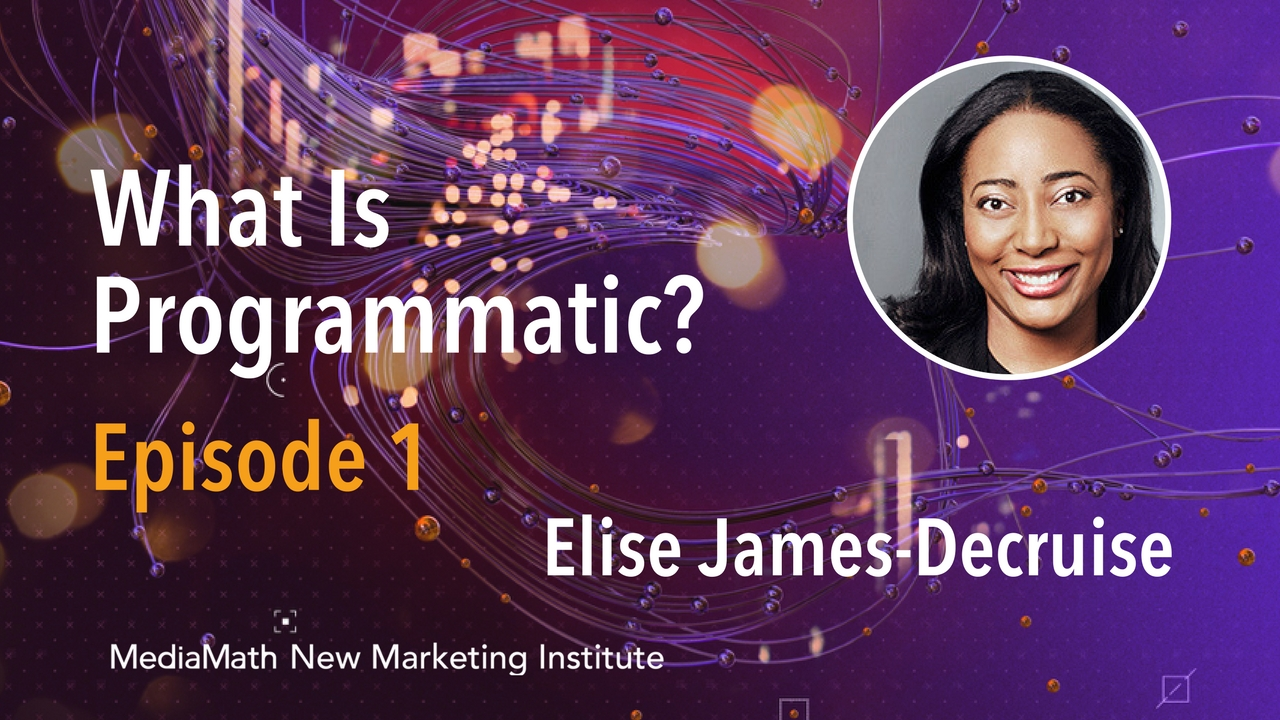What Is Programmatic Marketing and Why Should Marketers Care with Elise James-Decruise – Ep. 1